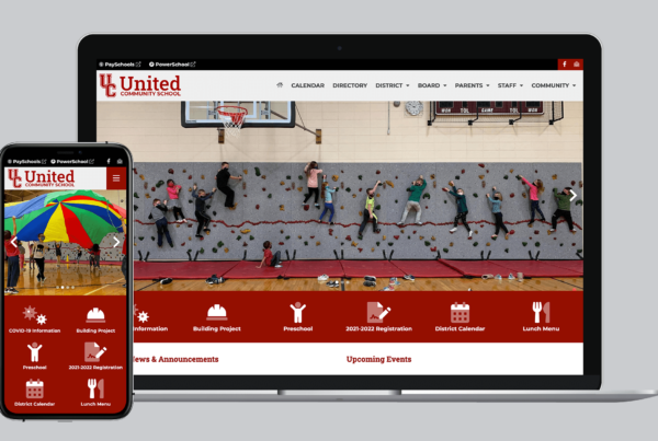 Screenshot of United CSD website on a laptop and mobile device